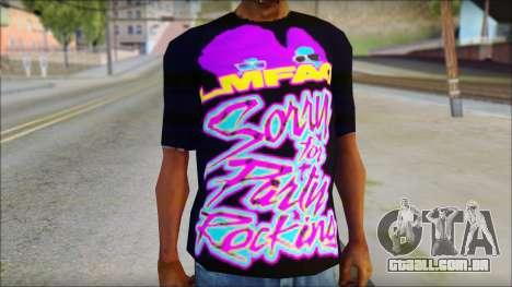 LMAFAO T-Shirt para GTA San Andreas terceira tela