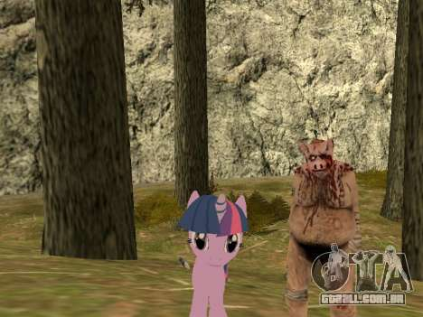 Twilight Sparkle para GTA San Andreas segunda tela