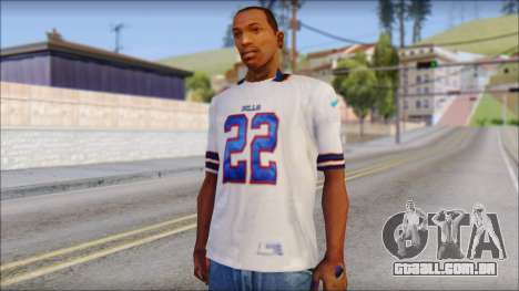 NY Buffalo Bills White para GTA San Andreas