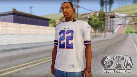 NY Buffalo Bills White para GTA San Andreas