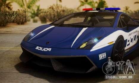 Lamborghini Gallardo LP570-4 2011 Police para GTA San Andreas vista interior