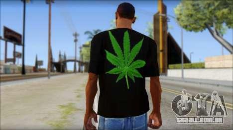 Bob Marley T-Shirt para GTA San Andreas segunda tela