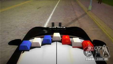 Porsche Carrera GT Police para GTA Vice City vista traseira esquerda
