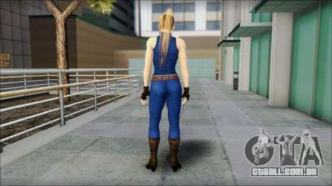 Sarah from Dead or Alive 5 v2 para GTA San Andreas segunda tela