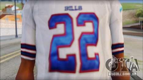 NY Buffalo Bills White para GTA San Andreas terceira tela