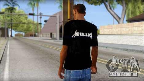 Metallica T-Shirt para GTA San Andreas segunda tela