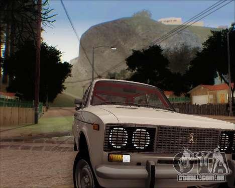 VAZ 2106 Tuneable para GTA San Andreas vista traseira