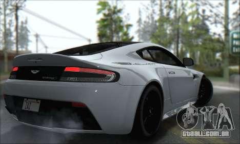 Aston Martin V12 Vantage S 2013 para GTA San Andreas vista traseira
