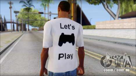Lets Play T-Shirt para GTA San Andreas segunda tela