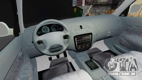 Daewoo Nubira I Sedan CDX PL 1997 para GTA 4 vista de volta