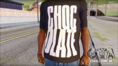 Chocolate T-Shirt para GTA San Andreas terceira tela