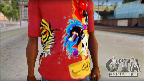 Ed Hardy Designer T-Shirt para GTA San Andreas terceira tela