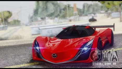 Mazda Furai 2008 para GTA San Andreas vista superior