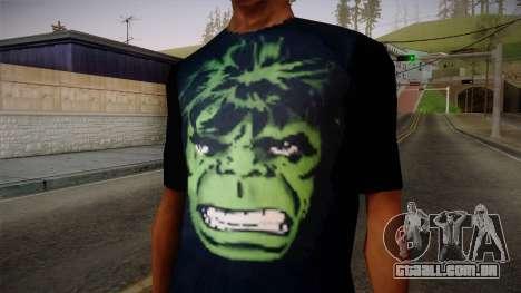 HULK T-Shirt para GTA San Andreas terceira tela