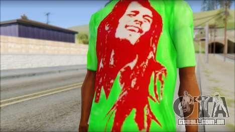 Bob Marley Jamaica T-Shirt para GTA San Andreas terceira tela