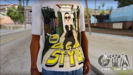Gangnam Style T-Shirt para GTA San Andreas terceira tela