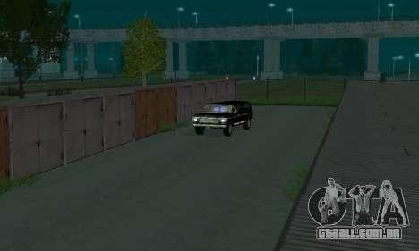 New FBI Rancher para GTA San Andreas vista traseira