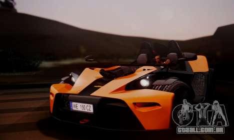 KTM X-Bow R 2011 para GTA San Andreas vista direita