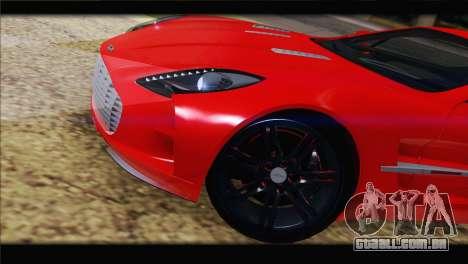 Aston Martin One-77 2010 para GTA San Andreas vista superior
