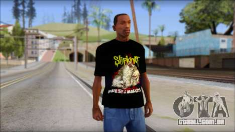 SlipKnoT T-Shirt v5 para GTA San Andreas