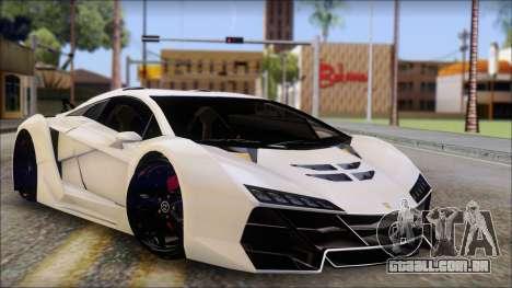 Pegassi Zentorno from GTA 5 v3 para GTA San Andreas
