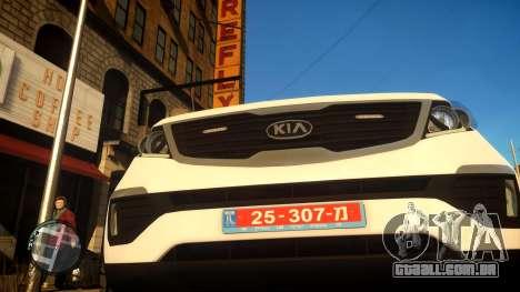 Kia Sportage Israel Police car (Mishtara) para GTA 4 vista de volta