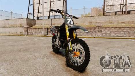 Yamaha YZF-450 v1.12 para GTA 4