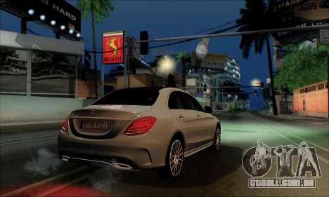 Mercedes-Benz C250 2014 V1.0 EU Plate para GTA San Andreas traseira esquerda vista