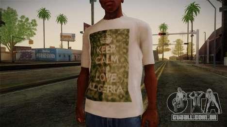 Keep Calm and Love Shirt para GTA San Andreas