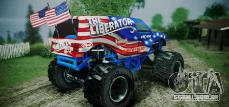 The Liberator - DLC Independence para GTA San Andreas esquerda vista