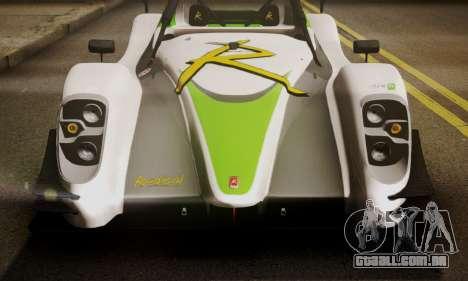 Radical SR8 Supersport 2010 para GTA San Andreas vista traseira