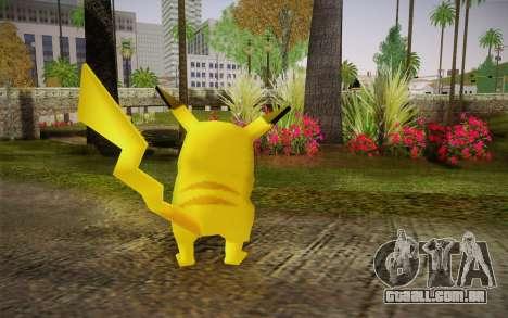 Pikachu para GTA San Andreas segunda tela