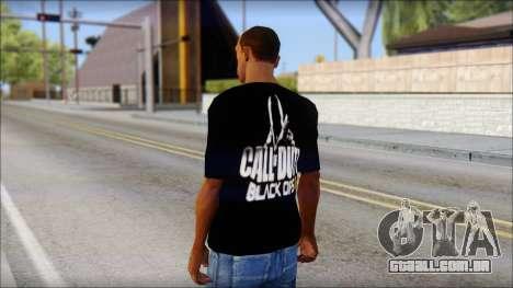COD Black Ops 2 Fan T-Shirt para GTA San Andreas segunda tela