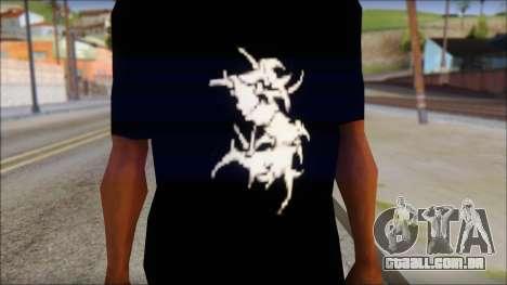Sepultura Logo T-Shirt para GTA San Andreas terceira tela