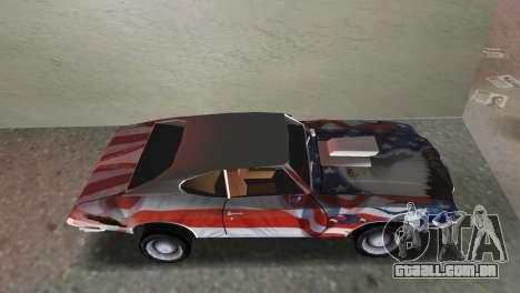 Oldsmobile 442 1970 v2.0 para GTA Vice City vista traseira esquerda