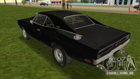 Dodge Charger RT Street Drag 1969 para GTA Vice City deixou vista
