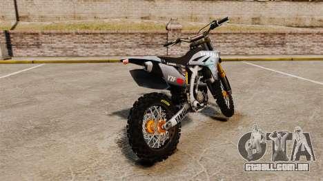 Yamaha YZF-450 v1.1 para GTA 4 traseira esquerda vista