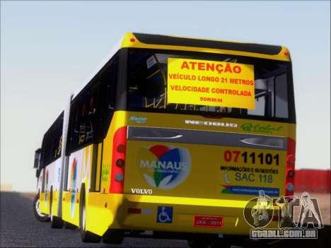 Прицеп Neobus Mega BHNS Volvo B12-340M para as rodas de GTA San Andreas