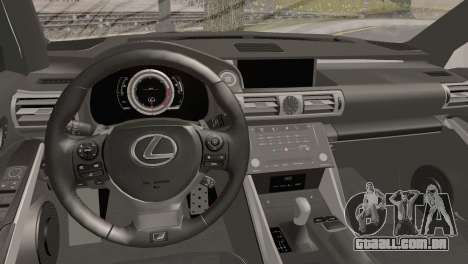 Lexus IS350 FSport 2014 Hellaflush para GTA San Andreas vista direita