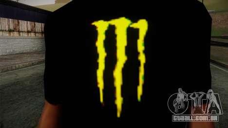 Monster Ripper Shirt Black para GTA San Andreas terceira tela