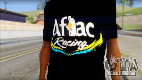 Fictional Carl Edwards T-Shirt para GTA San Andreas terceira tela