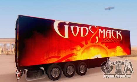 Godsmack - 1000hp Trailer 2014 para GTA San Andreas traseira esquerda vista