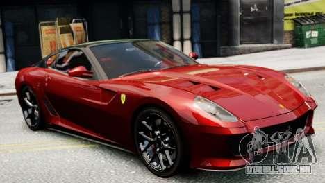 Ferrari 599 GTO para GTA 4 esquerda vista