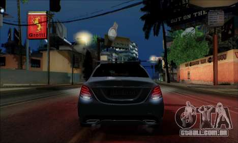 Mercedes-Benz C250 2014 V1.0 EU Plate para GTA San Andreas vista interior
