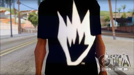 Afends T-Shirt para GTA San Andreas terceira tela
