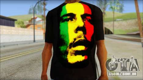 Bob Marley T-Shirt para GTA San Andreas terceira tela