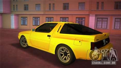 Mitsubishi Starion ESI-R 1986 para GTA Vice City deixou vista