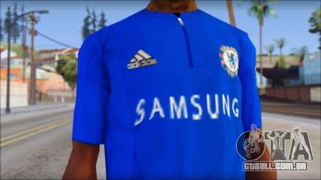 Chelsea F.C Drogba 11 T-Shirt para GTA San Andreas terceira tela