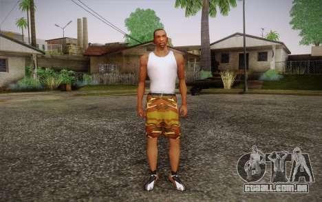 Camo Shorts Pants para GTA San Andreas