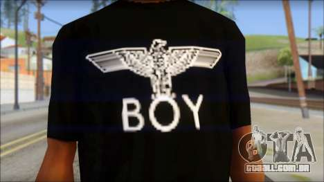 Boy Eagle T-Shirt para GTA San Andreas terceira tela
